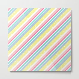 Party stripes Metal Print