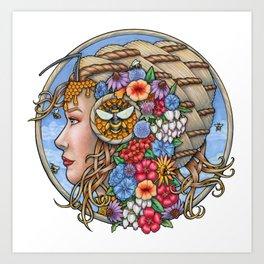 Beatrix Bee Queen by Bobbie Berendson W Art Print