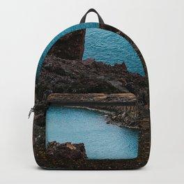 Lake Mountain sky blue Backpack