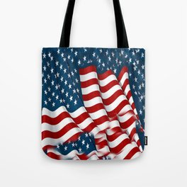 "ORIGINAL  AMERICANA FLAG ART ""STARS N' BARS"" PATTERNS Tote Bag"