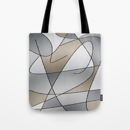 ABSTRACT CURVES #2 (Grays & Beiges) Tote Bag