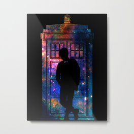 Space Tardis 11th Doctor Metal Print