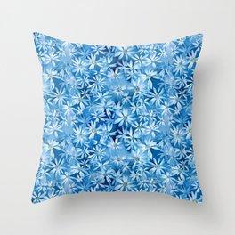 Blue Shasta Daisies Throw Pillow