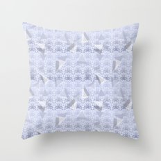 Floral Lace Collection - Blue Throw Pillow