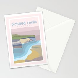 Pictured Rocks Michigan  Stationery Cards
