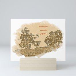 """Trees Of Catalina #2""/Simple Friendship Mini Art Print"