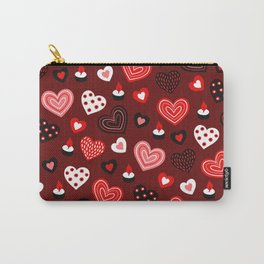 Valentine Hearts and Votive Candles Carry-All Pouch