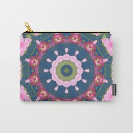 Flower-Mandala, blue pink, Spring blossoms Carry-All Pouch