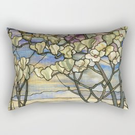 Louis Comfort Tiffany - Decorative stained glass 5. Rectangular Pillow