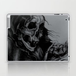 Skeleton Holding Diamond Laptop & iPad Skin
