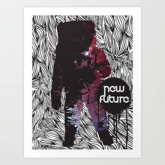 The New Future Is Here Art Print