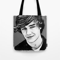 liam payne Tote Bags featuring Liam Payne by D77 The DigArtisT