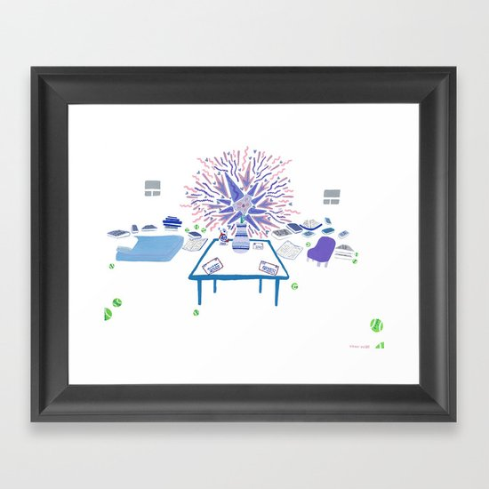 She is Gone, But I Still Have My Flower, Books, and Cleaning Supplies Framed Art Print