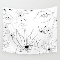 sketch Wall Tapestries featuring Sketch by LEIGH ANNE BRADER