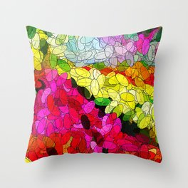 River of Flowers Throw Pillow