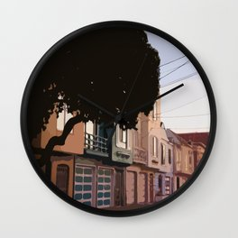 Sunset Houses, San Francisco  Wall Clock