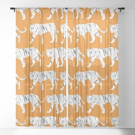Tiger Print Sheer Curtain