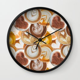Lotta Lattes Wall Clock