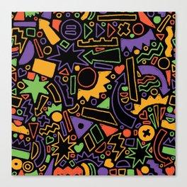 Funkey Shapey V2 Canvas Print
