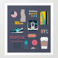 nyc Art Prints featuring NYC by 914k
