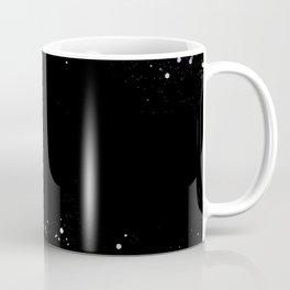 Black Holographic Glitter Pretty Glam Elegant Sparkling Coffee Mug
