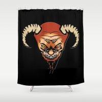 devil Shower Curtains featuring Devil by LessaKs Art