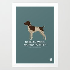 German Wirehaired Pointer Art Print