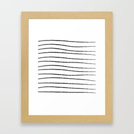 Hand Drawn Horizontal Stripes Framed Art Print