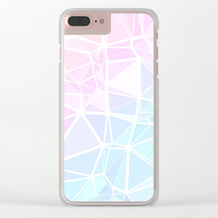 Pastel Triangles 1 Clear iPhone Case