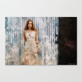The Mysterious Redhead Gypsy Woman Canvas Print