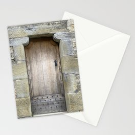 A door inside the City of Carcassonne Stationery Cards