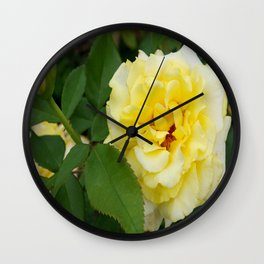 Single Yellow Rose Wall Clock