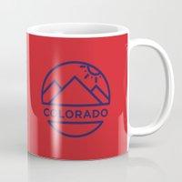 colorado Mugs featuring Colorado by BMaw