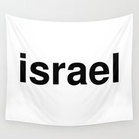israel Wall Tapestries featuring israel by linguistic94