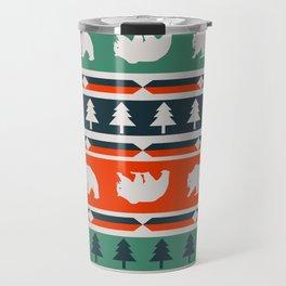 Winter bears and trees Travel Mug
