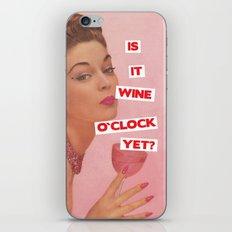 Wine O`Clock iPhone & iPod Skin