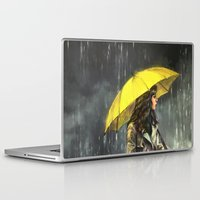 train Laptop & iPad Skins featuring All Upon the Downtown Train by Alice X. Zhang