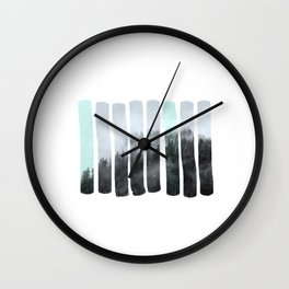 Hidden forest Wall Clock