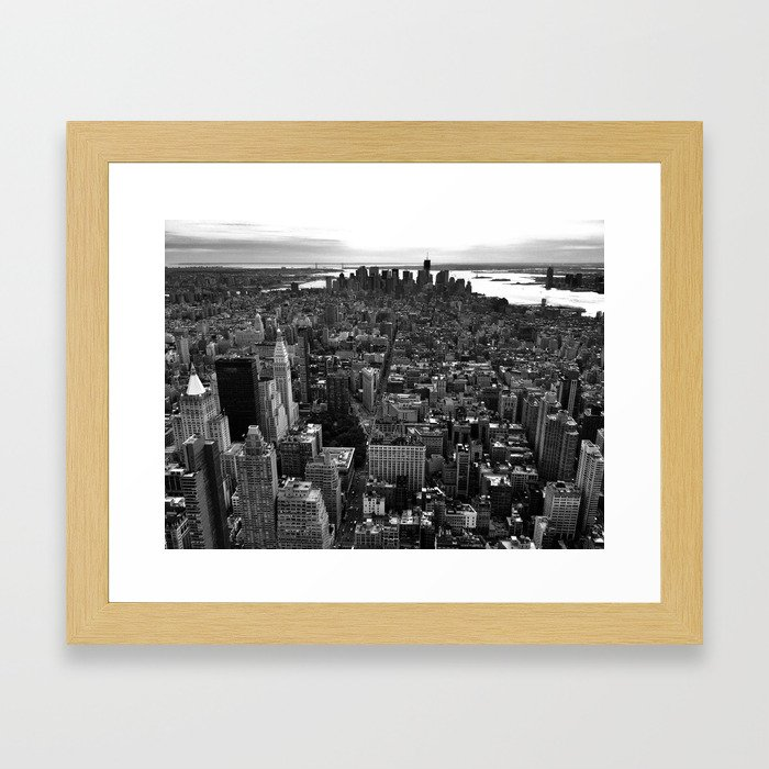 Birds Eye View NY Framed Art Print