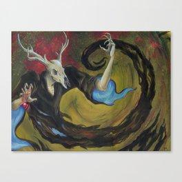 The Deerman's Challenge. Canvas Print