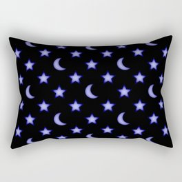 Moons and stars pattern Rectangular Pillow