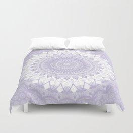 Boho Pastel Purple Mandala Duvet Cover