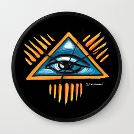 The Eye of Providence / the all-seeing eye of God Wall Clock