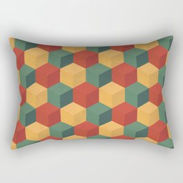 Retro Cubic Rectangular Pillow