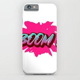 BOOM! A Clear Statement iPhone Case