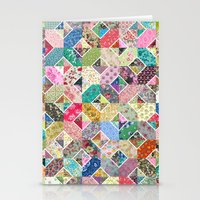 quilt Stationery Cards featuring Betty's Diamond Quilt by Rachel Caldwell