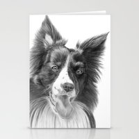 border collie Stationery Cards featuring Border collie 3 by Doggyshop