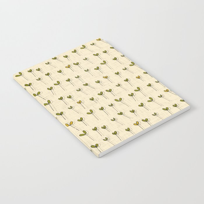 sprouts cream Notebook