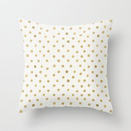 Gold Spots Throw Pillow