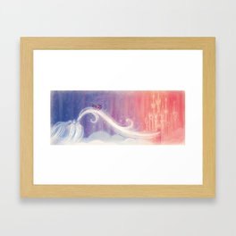 """Celeste in the sky // Illustration from """"Once Upon A Cloud"""" Framed Art Print"""